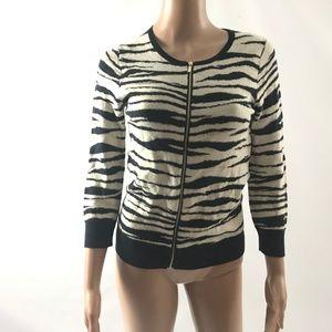 Taylor Petite Women's Cardigan Sweater Zip Up XSP